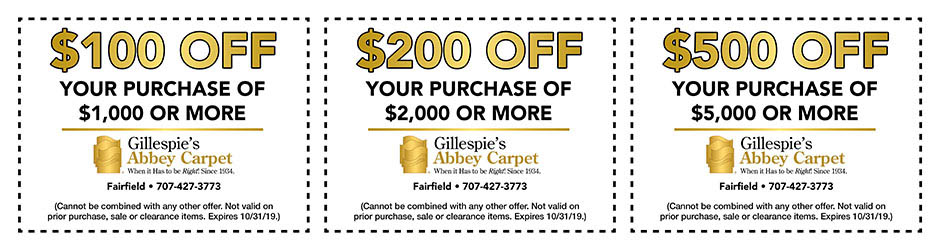 Take up to $500 off with this coupon during the national gold tag flooring sale!