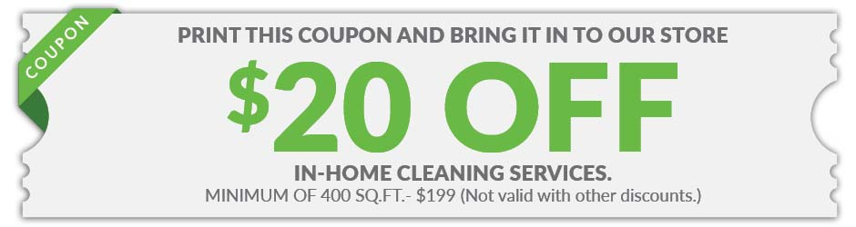 $20 off in-home cleaning Services coupon at Gillespie's Abbey Carpet & Floor