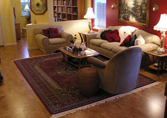 Cork Flooring Room Scene